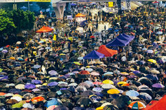 Umbrella Revolution in Hong Kong 2014 Royalty Free Stock Images