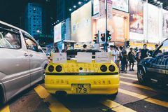 Umbrella Revolution in Hong Kong 2014. HONG KONG, OCT 1: Crowd of protesters occupy the road in Mongkok on 1 October 2014. Hong Kong people are fighting for a Stock Image