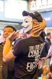 Umbrella Revolution in Hong Kong 2014 Stock Image