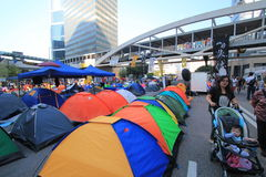 Umbrella revolution in Hong Kong 2014 Royalty Free Stock Photos