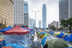 Umbrella Revolution, Hong Kong Stock Image