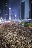 Umbrella Revolution, Hong Kong. Thousands of Hong Kong citizens stand for democracy stock photography