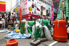 Umbrella Revolution in Mong Kok Royalty Free Stock Photo