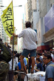 Umbrella Revolution in Mong Kok Stock Images