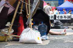 Umbrella Revolution in Mong Kok Royalty Free Stock Image