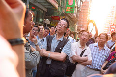 Umbrella Revolution in Mong Kok Royalty Free Stock Photography