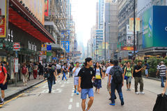 Umbrella Revolution in Mong Kok on October 2014 Royalty Free Stock Photography