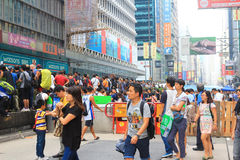 Umbrella Revolution in Mong Kok on October 2014 Royalty Free Stock Photo