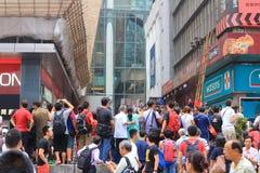 Umbrella Revolution in Mong Kok on October 2014 Stock Photos