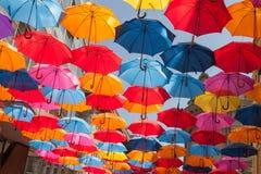 Umbrella Roof. Colorful Umbrella Roof. Belgrade. Serbia Stock Image