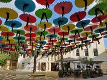 Umbrella roof. In tel aviv royalty free stock photography