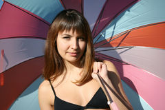 Umbrella's colours Royalty Free Stock Photography