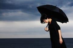 Umbrella, Only, Sad, Depression Stock Image