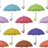 Umbrella, seamless background Stock Image