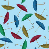Umbrella seamless background Stock Photography