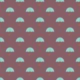 Umbrella seamless pattern background. Vector illustration stock illustration