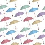 Umbrella seamless pattern. Royalty Free Stock Images