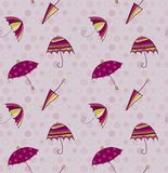Umbrella seamless vector background Royalty Free Stock Photography
