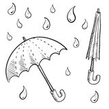 Umbrella or security sketch Stock Photos
