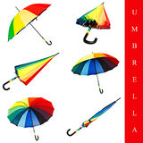 Umbrella set Stock Images
