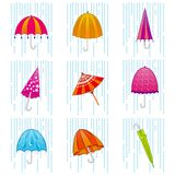Umbrella set Stock Image