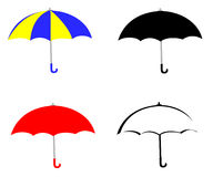 Umbrella Set. A set of four opened umbrellas vector illustration