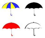 Umbrella Set. A set of four opened umbrellas Vector Illustration