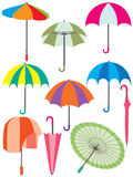 Umbrella Set Royalty Free Stock Photos