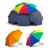 Umbrella set on a white background Royalty Free Stock Photography