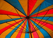 Umbrella Shade. The colorful shade of an umbrella at the Dixie Classic Fair in North Carolina stock image