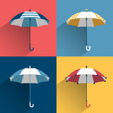 Umbrella sign. Flat  sign. Stock Photo