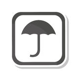 umbrella silhouette symbol isolated icon Royalty Free Stock Photography