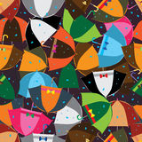 Umbrella simply colors seamless pattern Royalty Free Stock Photo
