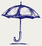 Umbrella sketch. Doodle style. Vector Royalty Free Stock Photos