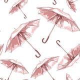 Umbrella sketch pattern for textile design. Stock Photo