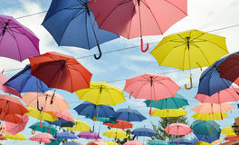 Umbrella with sky Royalty Free Stock Image