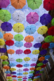 Umbrella sky Stock Images