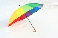 Umbrella on the snow Royalty Free Stock Photography