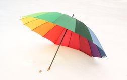 Umbrella on the snow Stock Photography