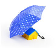Umbrella solar panel Royalty Free Stock Images
