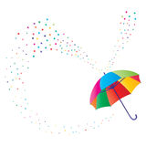 Umbrella star. Illustration abstract fly umbrella star color deco white background graphic element Stock Image