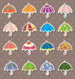 Umbrella stickers Royalty Free Stock Images