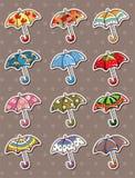 Umbrella stickers Stock Photo