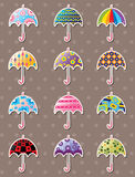 Umbrella stickers Stock Image