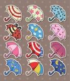 Umbrella stickers Stock Photos