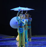The umbrella story-The dance drama The legend of the Condor Heroes. In December 2, 2014, a large Chinese dance drama the legend of the Condor Heroes for the Royalty Free Stock Photos