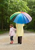 Umbrella stroll Royalty Free Stock Images