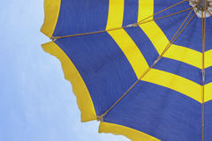 Umbrella. At the summer beach royalty free stock image