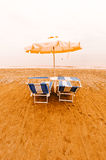 Umbrella and Sun Bed Royalty Free Stock Photography