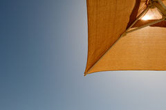 Umbrella with sunlight. In day time Royalty Free Stock Images